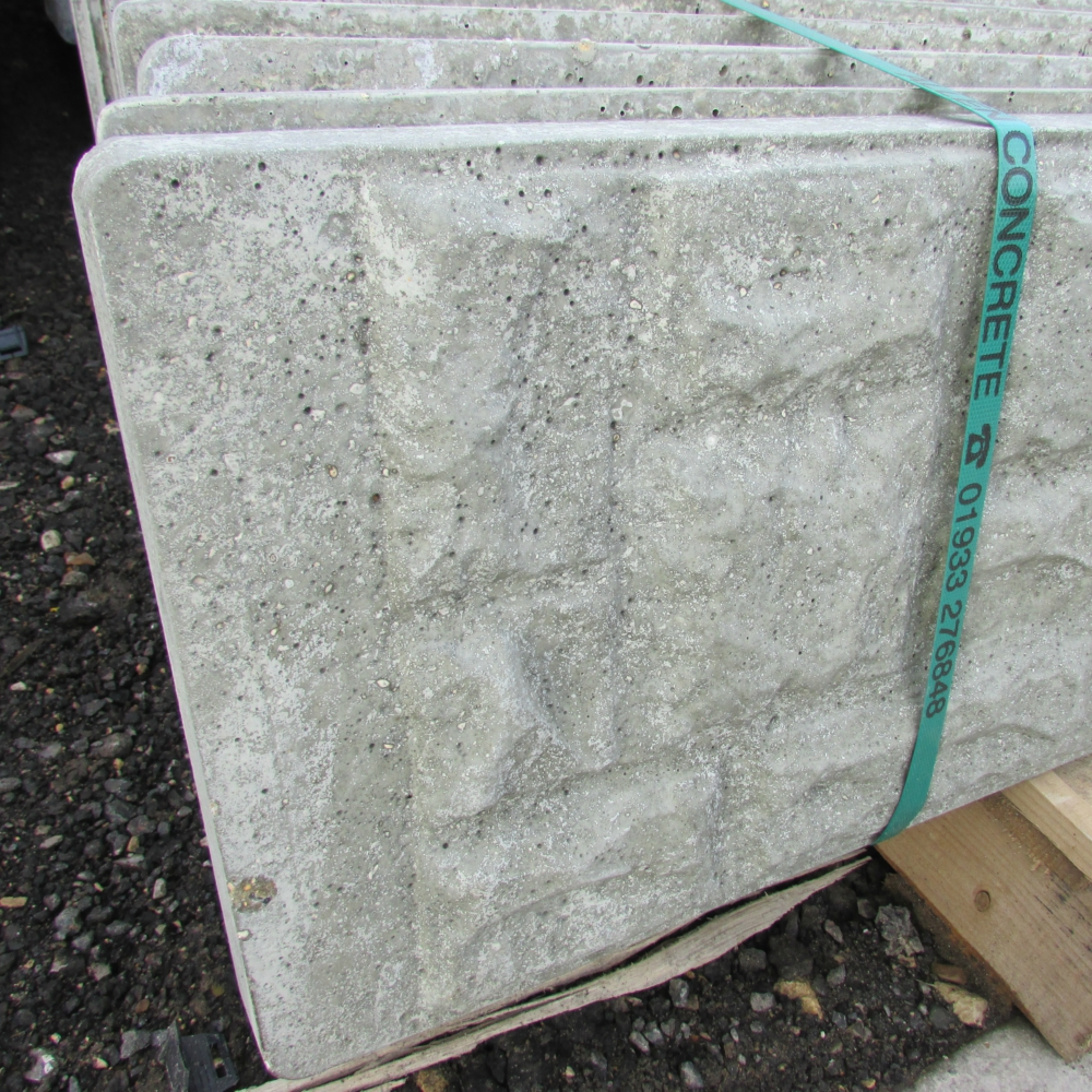 Concrete Fencing Rock Faced Gravel Board Free Delivery
