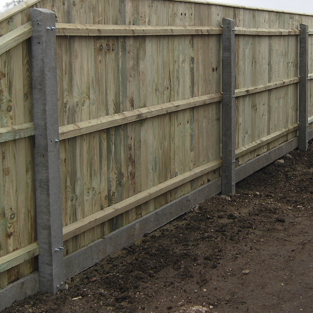 Recessed Concrete Fencing Concrete Posts Free Delivery