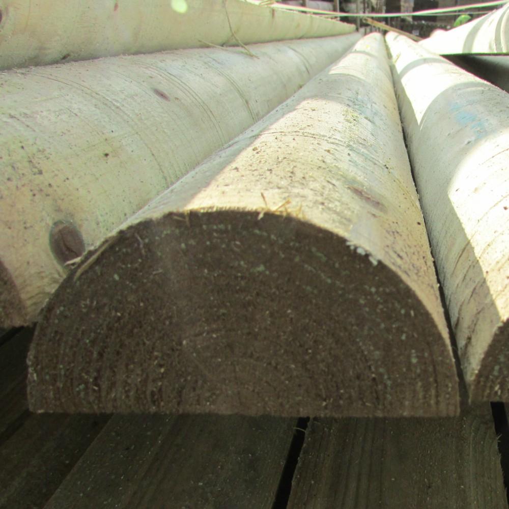 Half Round Wooden Post Amp Rail Fence Pressure Treated
