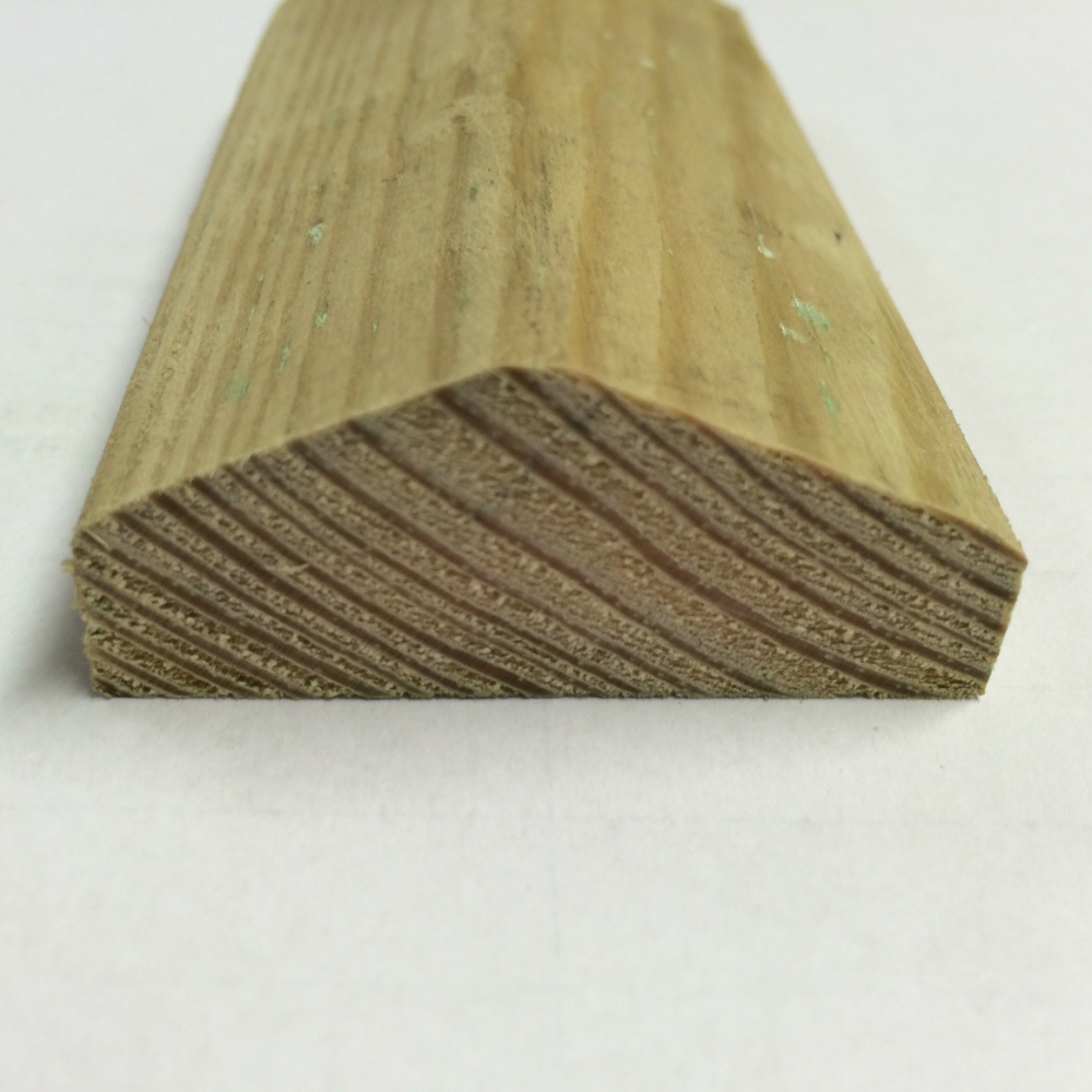 Wooden Feather Edge Fence Capping Pressure Treated