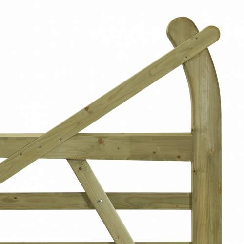 10033660EstateGreen  Wooden Gate Horned 12ft Right Handed Detail 1