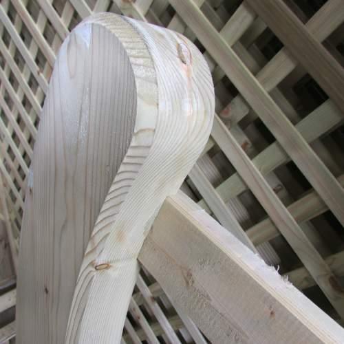 10033660EstateGreen  Wooden Gate Horned 12ft Right Handed Detail 2
