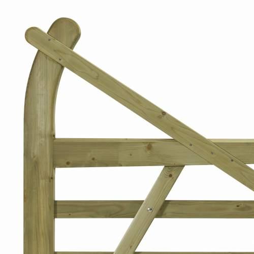 10033660EstateGreen  Wooden Gate Horned 12ft Left Handed Detail 1