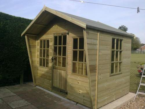 0161252400T&GGreen  Tongue And Groove Cladding Matching Pressure Treated Summerhouse 2