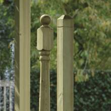 Newel Post Green1800PYR  Decking Newel Posts Cropped