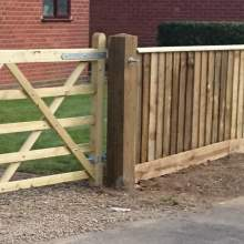 1751752400Green  Wooden Gate Post 175 X 175 2400 Pale Green Natural 1