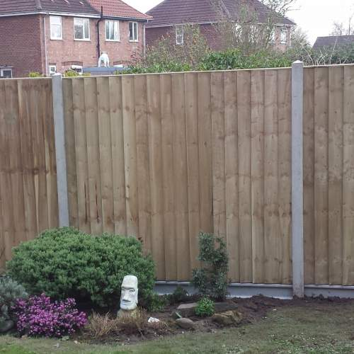 18001830FEBPanelGreen  Heavy Duty Fence Panel Feather Edge Boarded 1 8 X 1 83 3