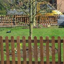 18001800RoundPanelBrown  Picket Fence Panels