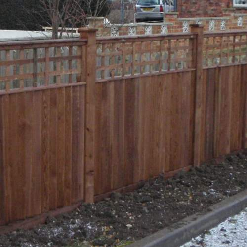 0750751800Brown  Wooden Fence Posts 75 X 75 X 1800mm