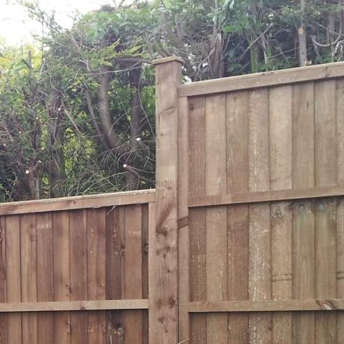 1001002400Brown  Wooden Fence Posts 100 X 100 X 2400mm 3