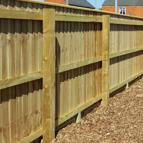 0471003600Green  Wooden Fence Rail 47 X 100 X 3600mm 1