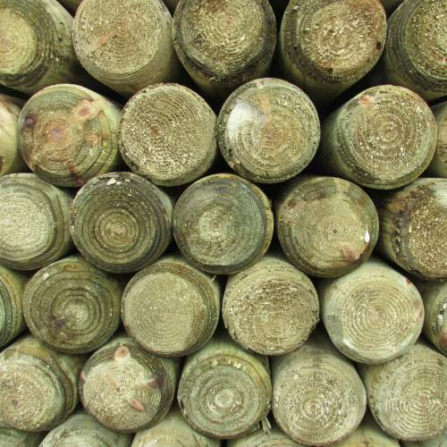1252400MRGreen--Machine-Round-Wooden-Posts-1.JPG