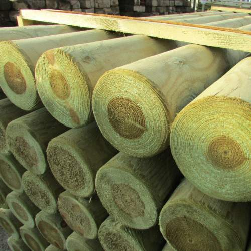 1503000MRGreen--Machine-Round-Wooden-Posts.JPG