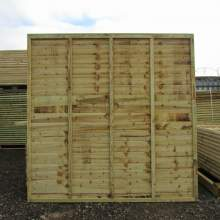 Waney18301830Green--Pressure-Treated-Waney-Lap-Fence-Panel-1.8-x-1.83m-1.JPG