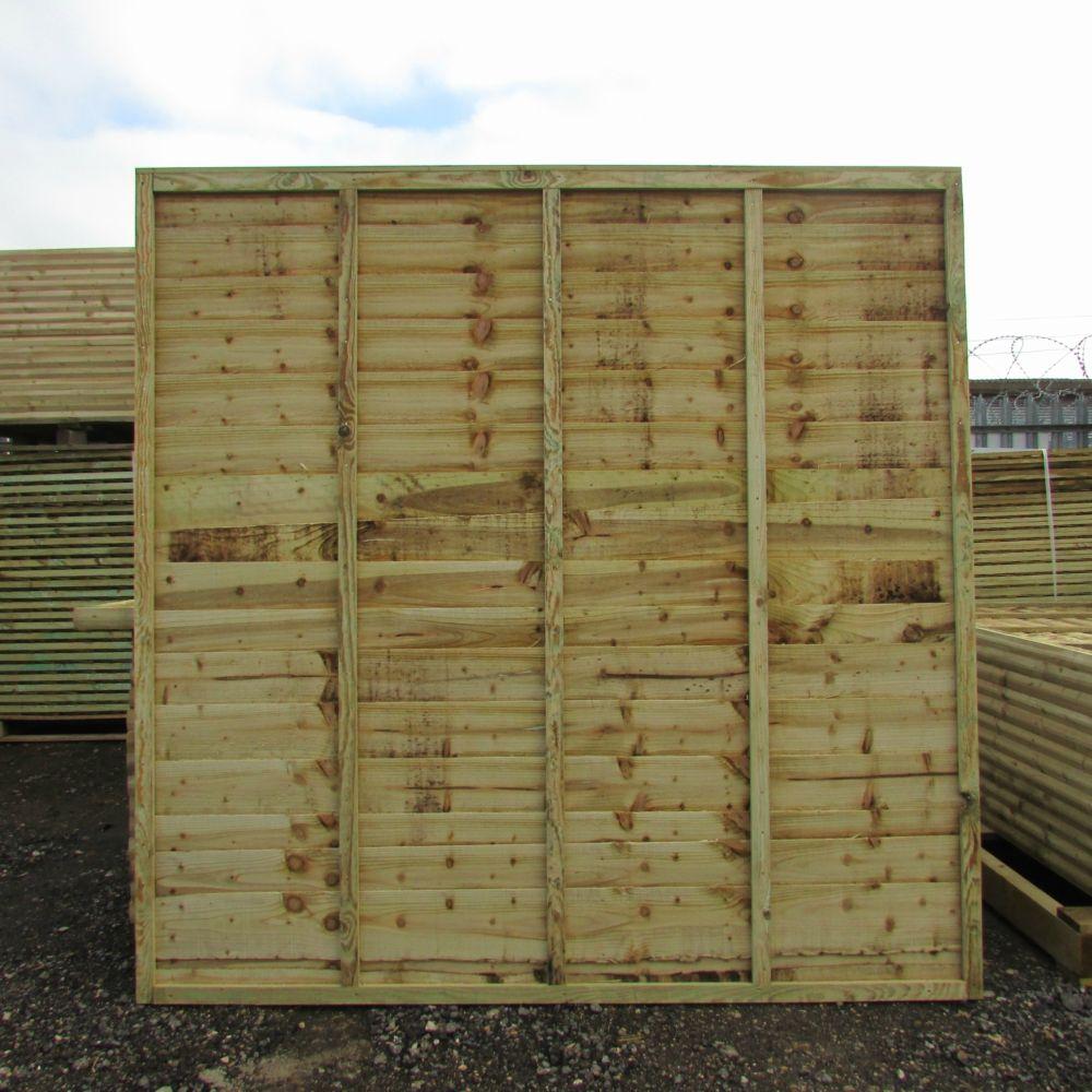 Waney Lap Economy Fence Panel Pressure Treated Free