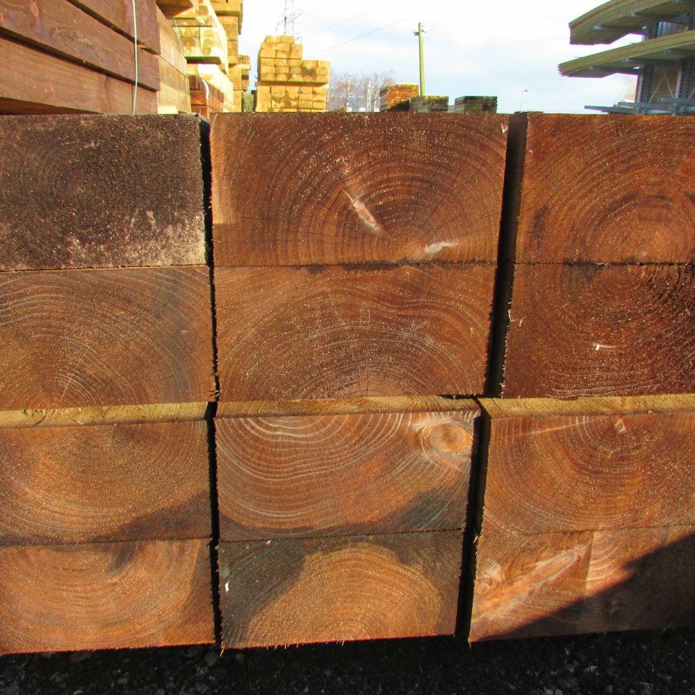 Wooden Railway Sleeper   Softwood Brown