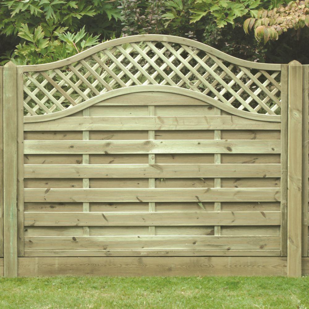 Omega Lattice Trellis Fence Panel Pressure Treated Free