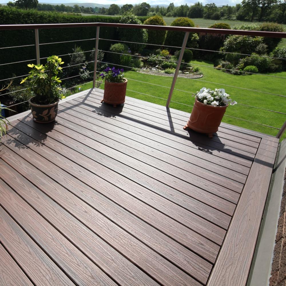Trex transcend composite deck board lava rock free for Composite porch decking