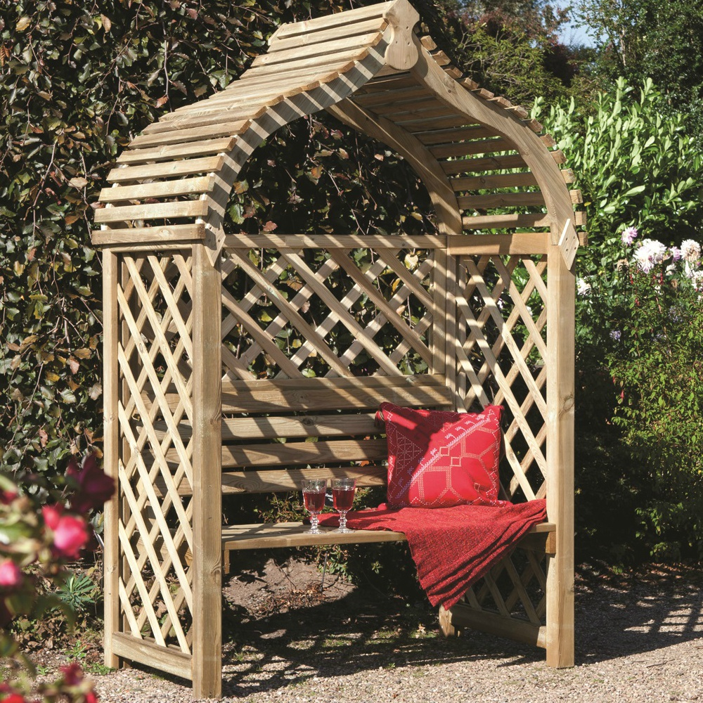 Jaipur Arbour Garden Structure Pressure Treated Fsc Certified Rowlinson