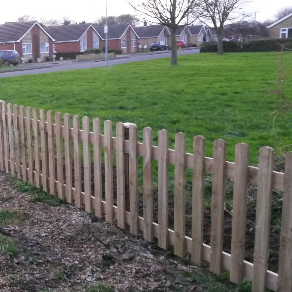 Picket Pale Fence Panel Round Top Pressure Treated