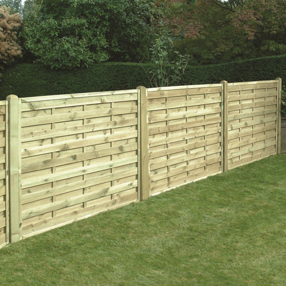 Horizontal Boarded Fence Panel Pressure Treated Free