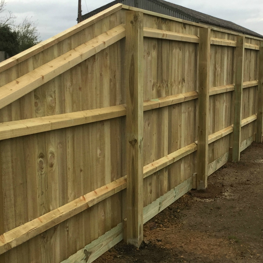 Wooden Rebated Fence Capping Pressure Treated Free