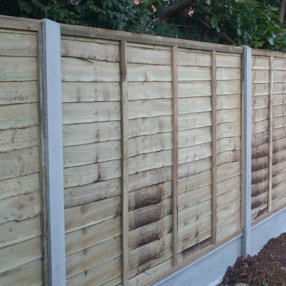 waney lap economy fence panel pressure treated free delivery available