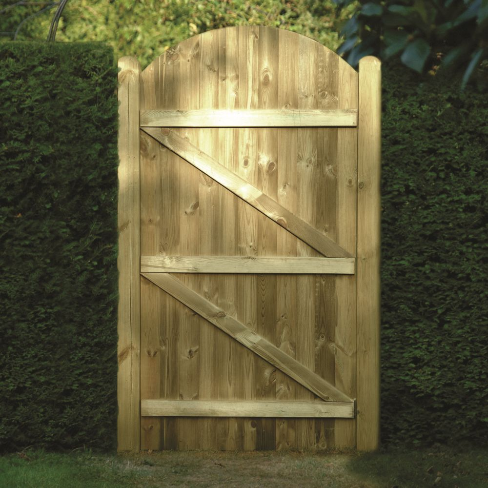 Tongue Amp Groove Curved Top Wooden Gates Fsc Certified
