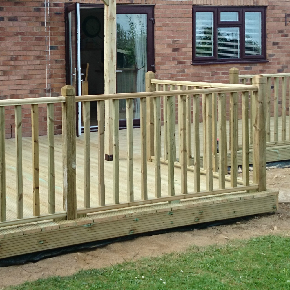 how to fix handrail to newel post on decking
