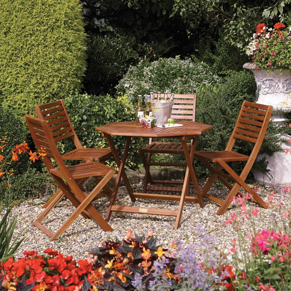 Plumley 4 Seater Set | Hardwood Garden Furniture | Free Delivery ...