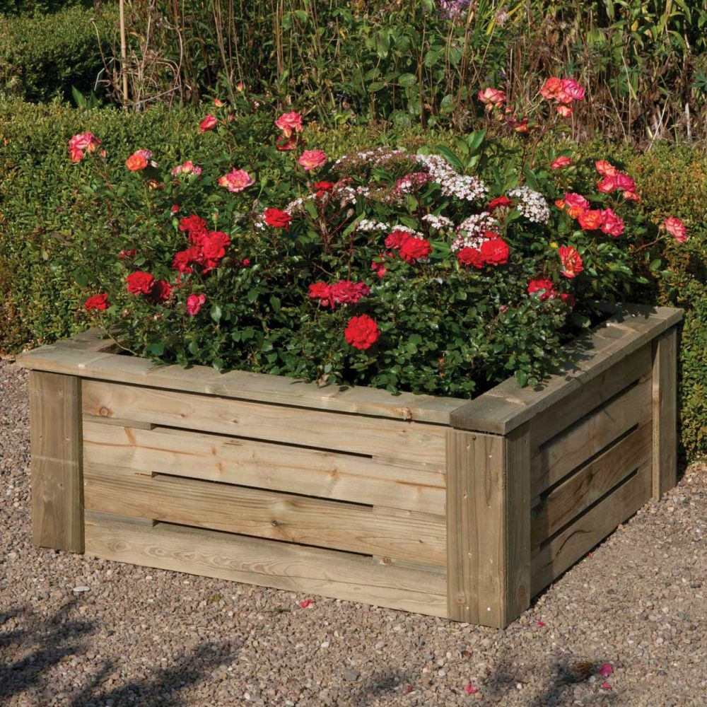 Raised planter 3x3 flat pack free delivery treated for Garden shed 3x3