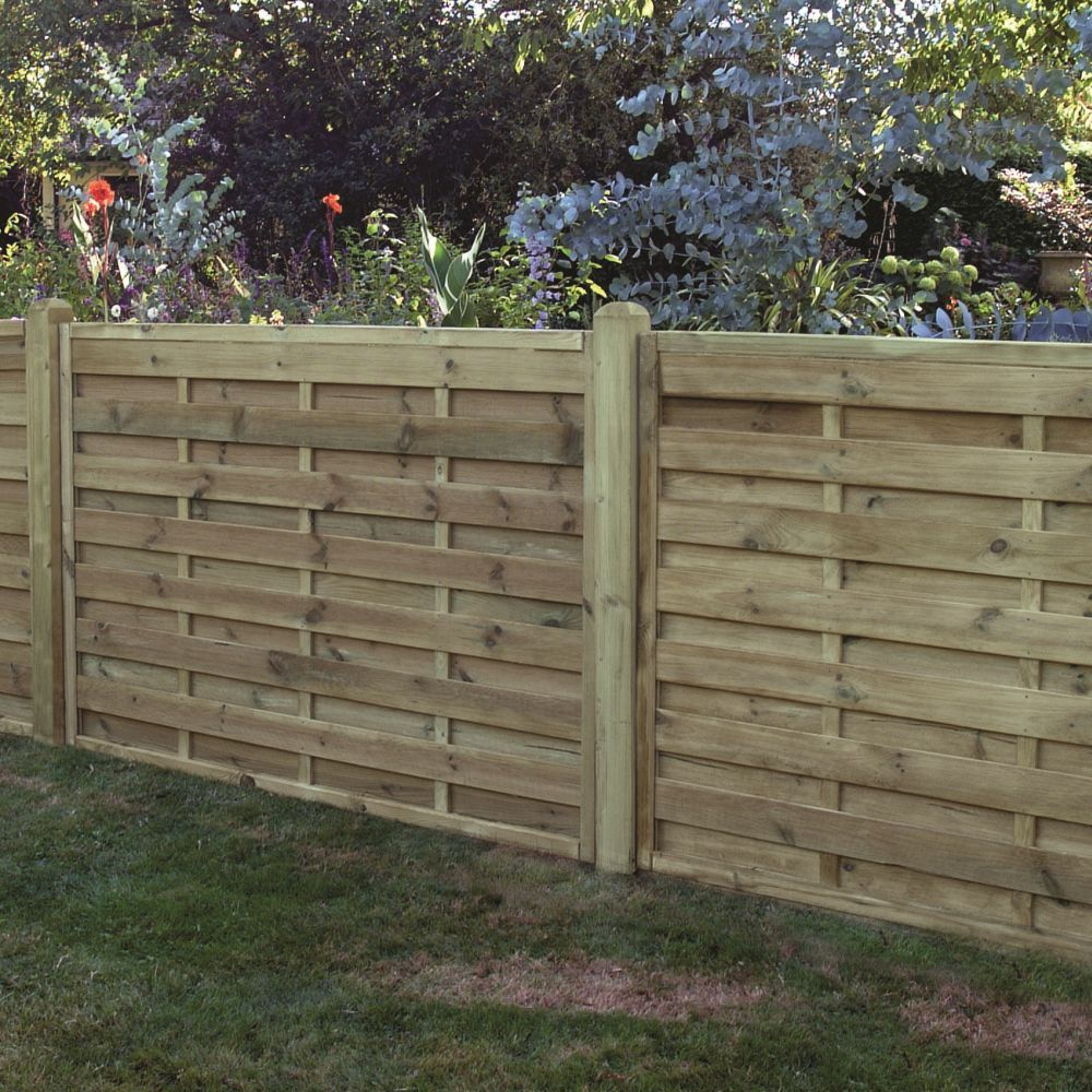 horizontal boarded fence panel pressure treated free. Black Bedroom Furniture Sets. Home Design Ideas