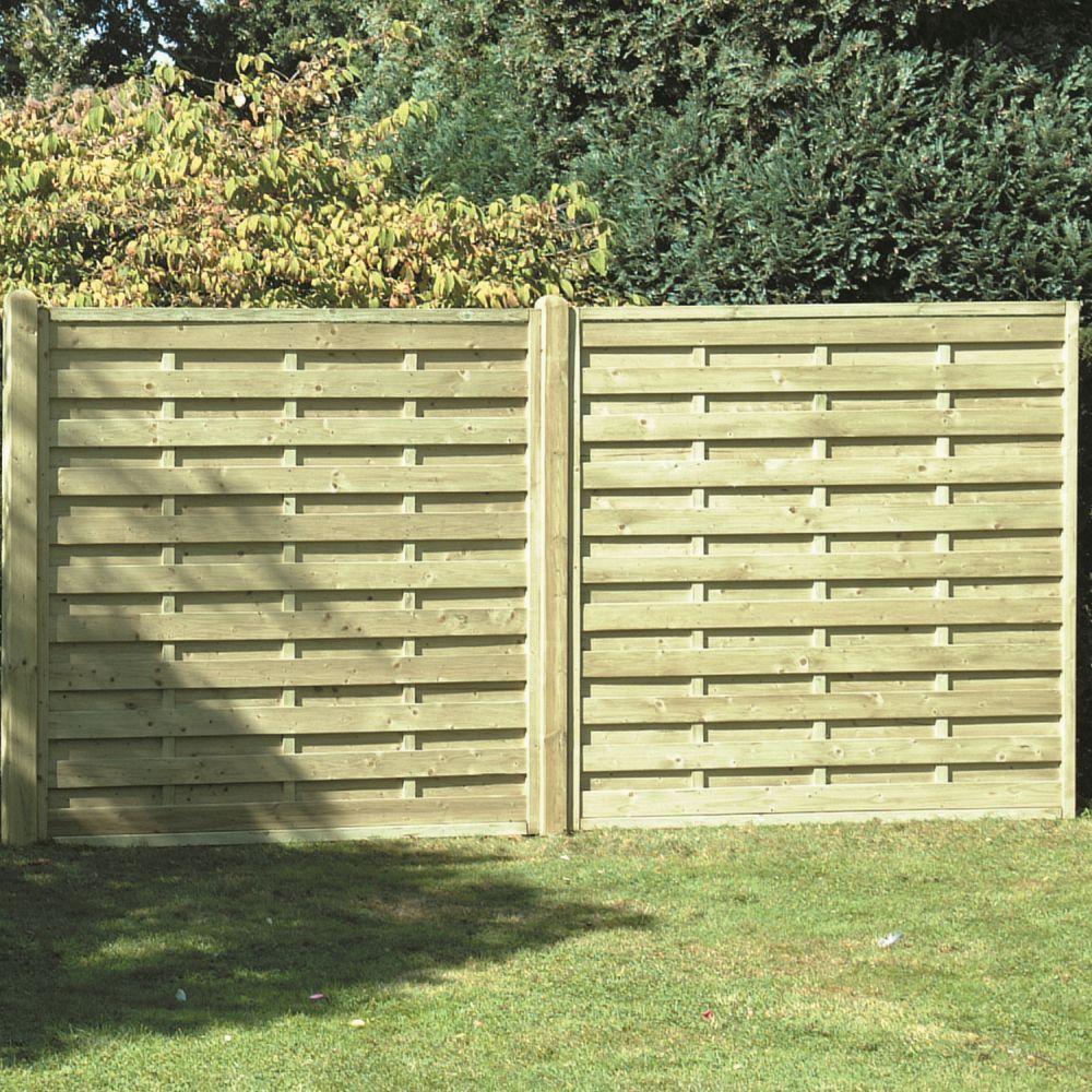 18001800reededpanelgreen square horizontal fence panel 1 8 x 1 8