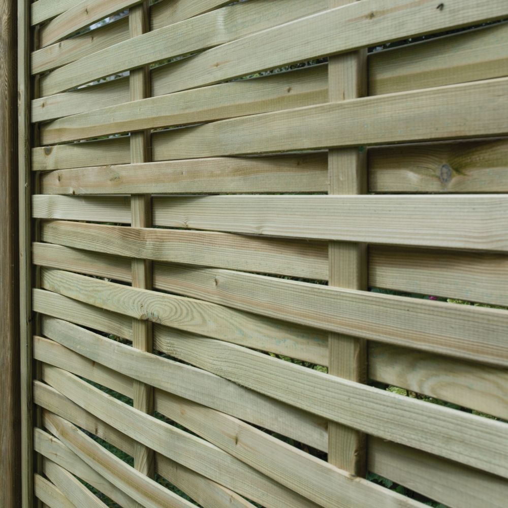 Premier Woven Overlapping Fence Panel