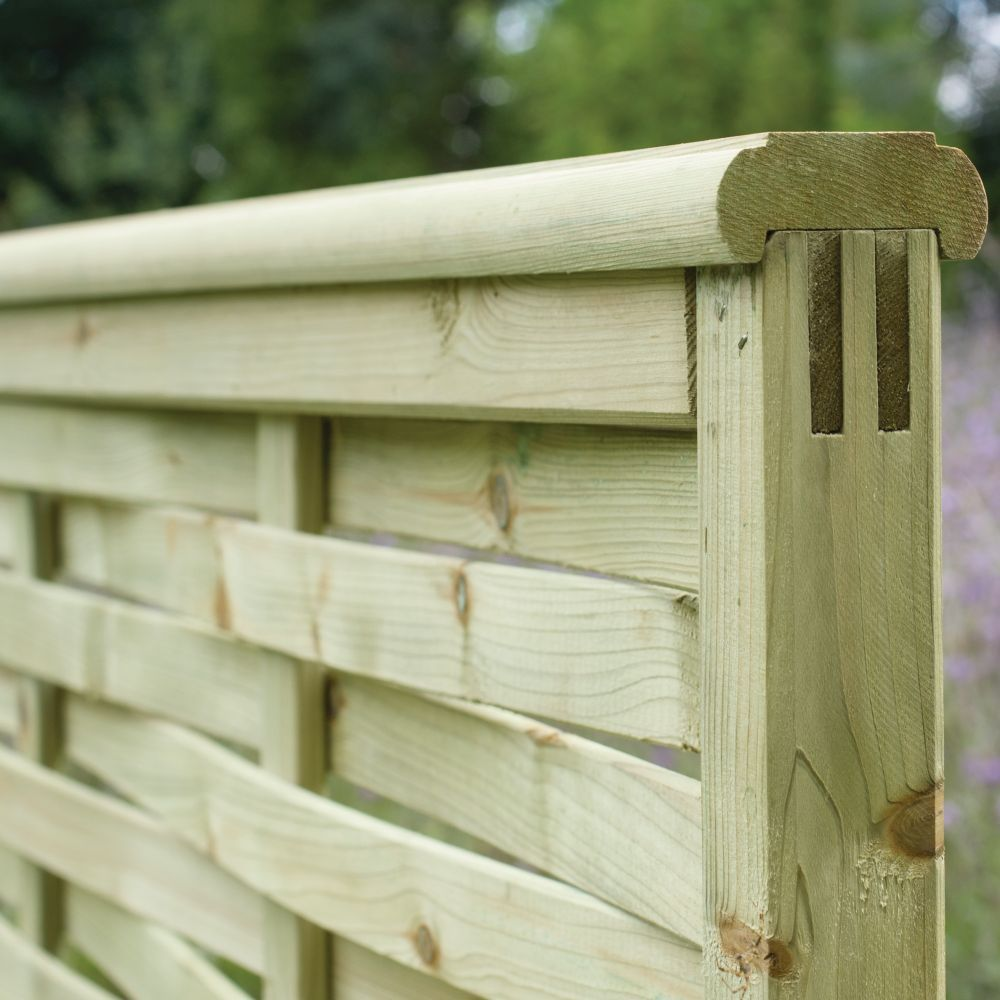 Premier Woven Overlapping Fence Panel Pressure Treated