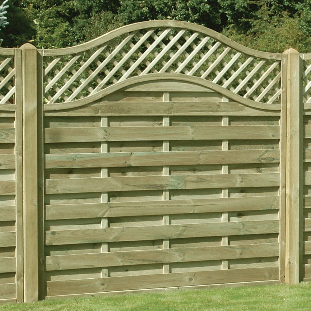 Omega Lattice Trellis Fence Panel