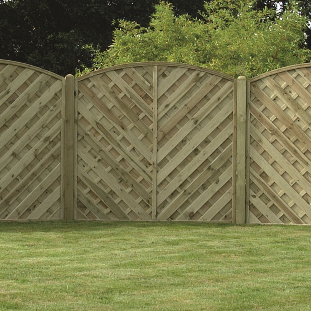 v arched boarded fence panel pressure treated free delivery