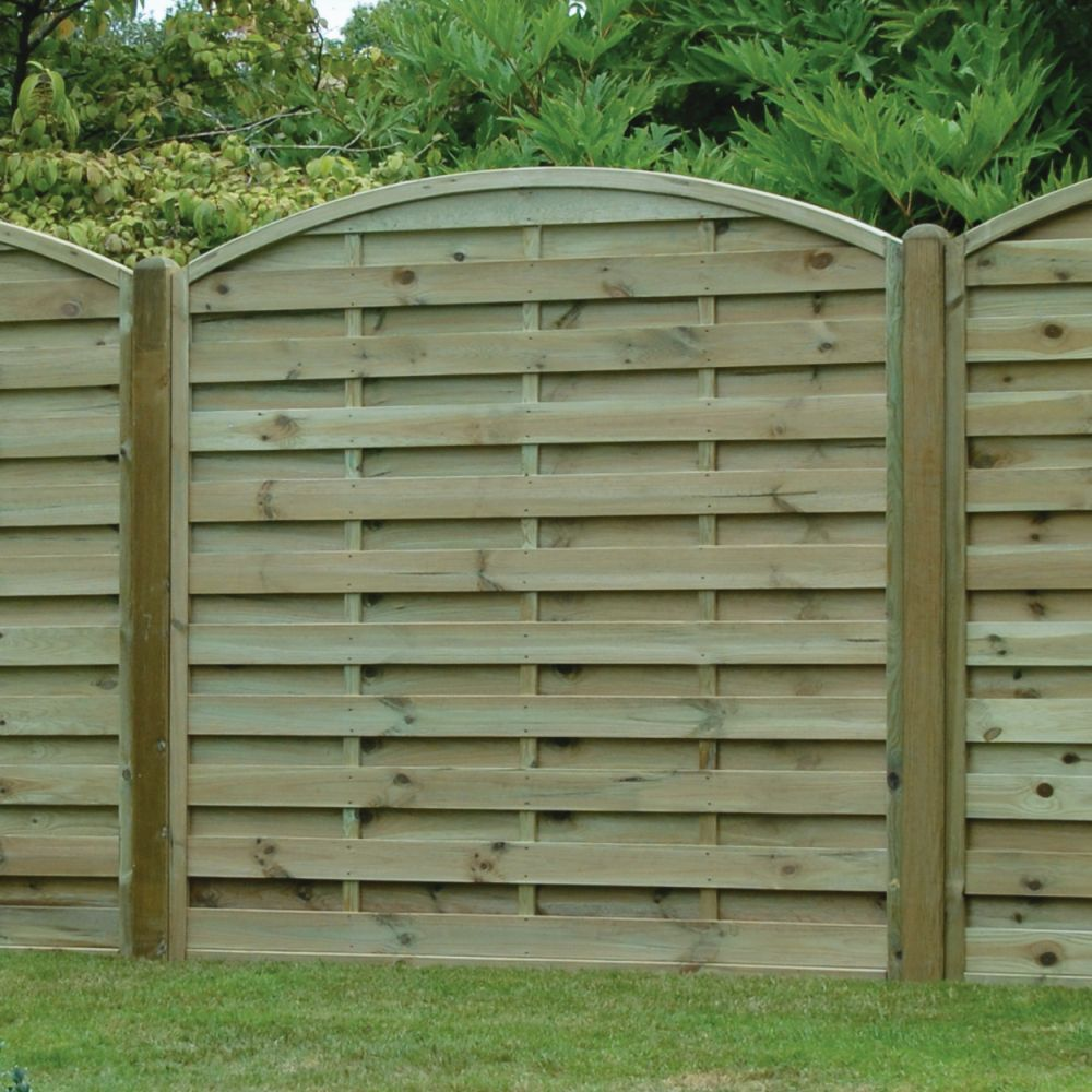 Fence panels Arched 18001800archhorizontalarchedhorizontalfencepanel18x18 Arched Horizontal Boarded Fence Panel Pressure Treatedfree
