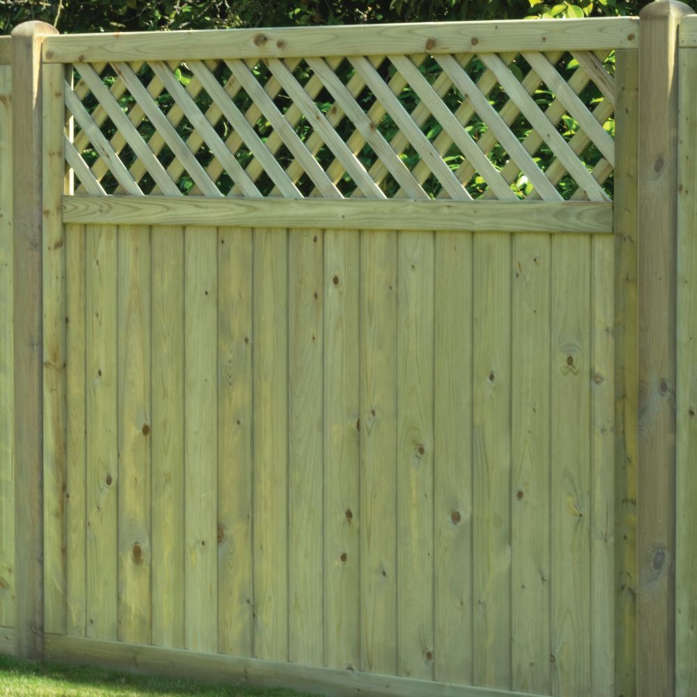 Tongue Amp Groove Boarded Fence Panel Lattice Top Free
