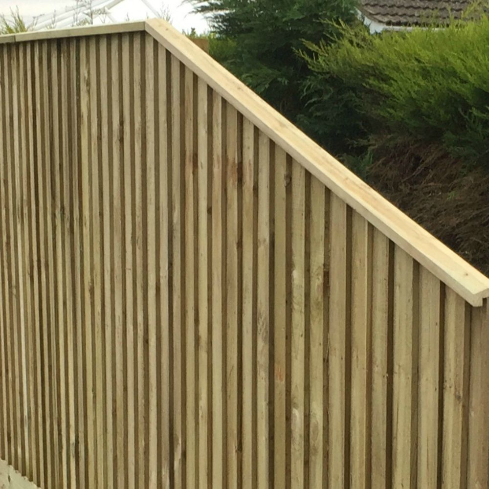 Wooden Pressure Treated Fence Capping Rail- Feather edge Rebated