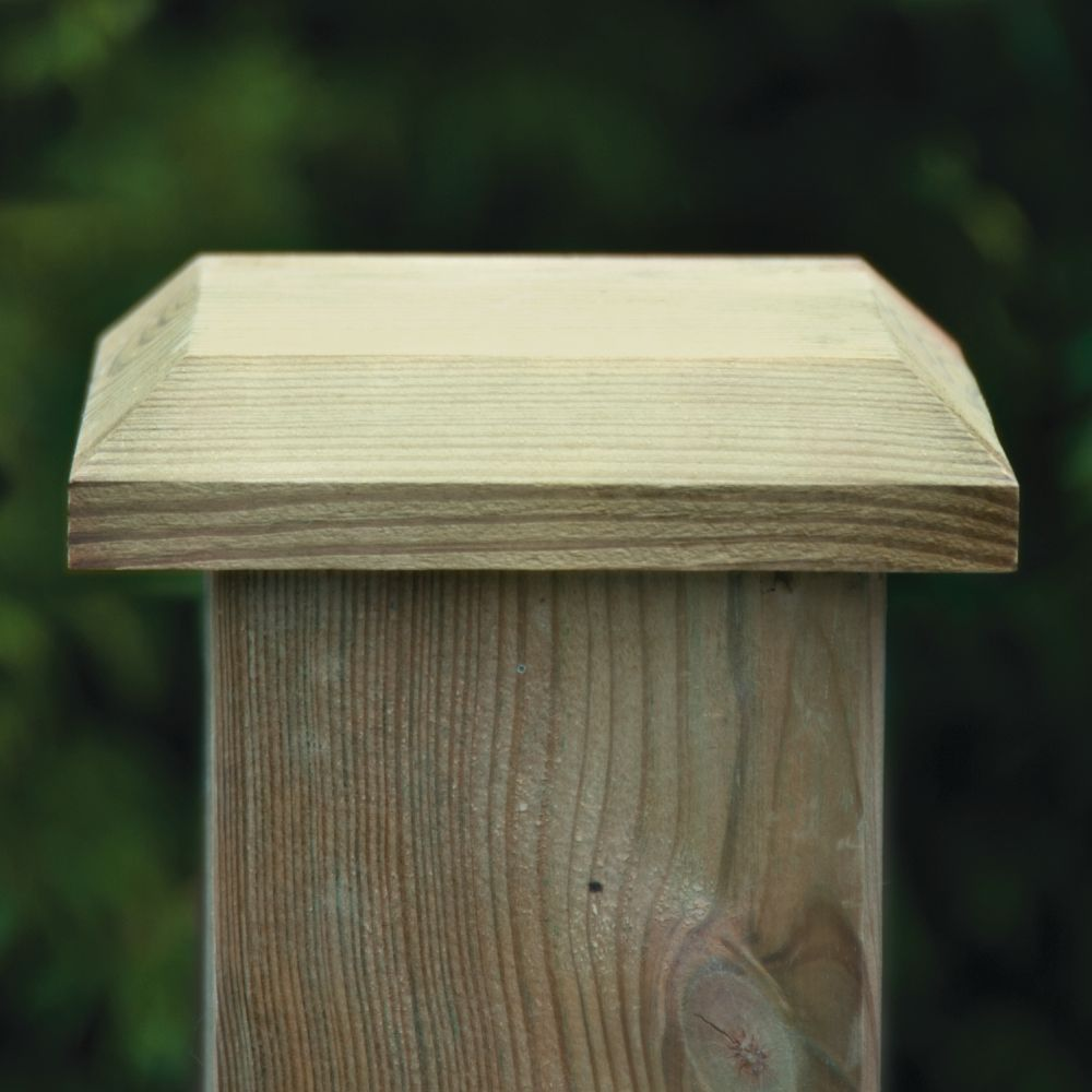 Wooden Fence Post Caps Amp Capping Pressure Treated Free